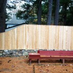 Cedar-board-on-steel-post